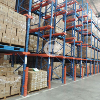 制药行业仓库货架-通廊式货架